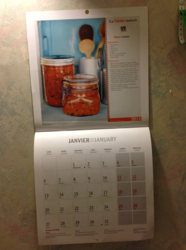Their calendars start in Monday, not Sunday o_O But it has pretty recipes